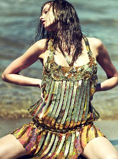 Magdalena Glonek by Dimitris Skoulos for Elle Greece, July 2012.