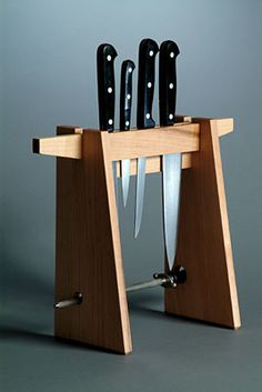 Super kitchen storage rack knife block ideas - Image 5 of 22 Knife Storage, Diy Storage, Kitchen Storage, Kitchen Organization, Freezer Organization, Organization Ideas, Storage Ideas, Global Knife Set, Knife Holder