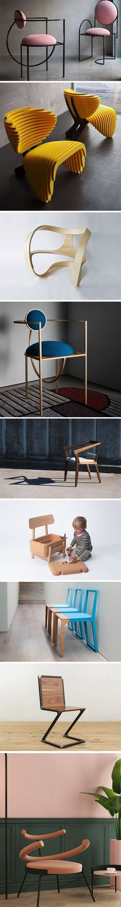 Given the amount of time we actually spend sitting on a chair we should really pay more attention to the actual design of it. To get you inspired we Art Furniture, Unique Furniture, Cheap Furniture, Furniture Design, Chair Design, Entryway Decor, Interior And Exterior, Architecture Design, Interior Decorating