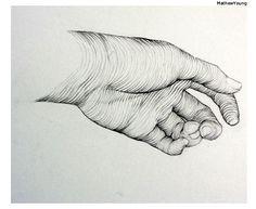 Cross Contour drawing - Mathew Young