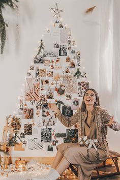DIY : Sapin de Noël mural comme un moodboard - C by Clemence Noel Christmas, Simple Christmas, Beautiful Christmas Decorations, Simple Pictures, Holiday Crafts, Photo Wall, Wall Decorations, Inspiration, Blog
