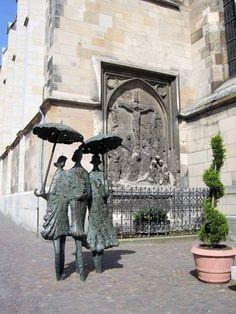 Women with Umbrella by Heinz Tobolla, #Aachen, #Germany
