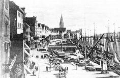 Bremen Schlachte 1862 - Kräne an der Bremer Schlachte – Wikipedia