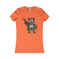 The Outdoors Newbie Tactical Teddy By @hiwez Women's Favorite Tee