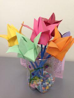 Rosas origami