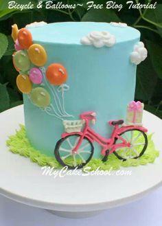 Pink Bike Cake...