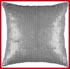 Rizzy Home T-3063C 18-Inch by 18-Inch Decorative Pillows, Silver/Gray - Improve your home (*Amazon Partner-Link)