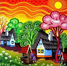 Сельская жизнь в рисунках Laszlo Koday - Ярмарка Мастеров - ручная работа, handmade
