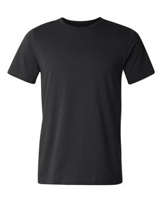 Canvas Unisex Short-Sleeve Jersey T-Shirt - Asphalt - Large: oz., combed and ringspun cotton; Athletic Heather is combed and ringspun cotton polyester; Dark Grey Heather is combed and ringspun cotton, polyester; Printed Shirts, Tee Shirts, T Shirt Design Template, Fight Wear, Shirt Mockup, How To Make Tshirts, Short Sleeve Tee, Shirt Designs, Cool Outfits