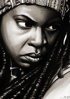 The Walking Dead - Michonne by Trev--Murphy #Michonne #TheWalkingDead #Art