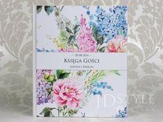 Księga gości VI-26-K-(ecru lub biała) z okładką o motywie kwiatów idealnie pasować będzie do wesela o żywych kolorach!