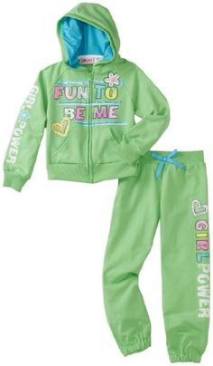 Young Hearts Toddler Girls Girl Power French Terry Set