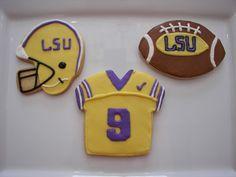 LSU Football Cookies
