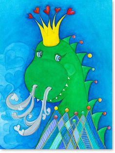 Beautiful Pastellbild King Dino Leinwandbild Kinderzimmer