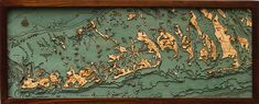Handcrafted Florida Keys Contour Map Wall Art by by SplendorMaps, $225.00