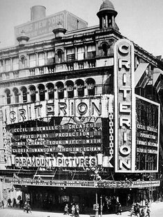 1920 photo of the Criterion Theatre - New York City (photo: Cinema Treasures)