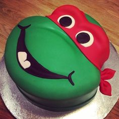 Teenage Mutant Ninja Turtles Cake Designs ! Turtle Power! A chocolate turtle filled with eggle