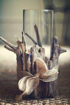 Dekoration Tisch oder Fensterdeko Treibholz mit Band verzieren Sommer Bastelidee Do You Have the Rig Beach Crafts, Summer Crafts, Diy Crafts, Stick Crafts, Fall Crafts, Design Crafts, Easter Crafts, Driftwood Projects, Driftwood Art