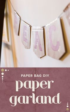 It's time to get your house in the holiday spirit with this super easy DIY paper garland.