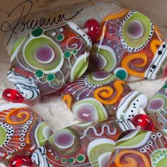 "Romana.Lampwork.Beads - ""Last Day"" 