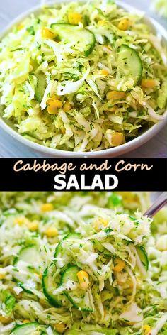 Orzo Salad Recipes, Cabbage Salad Recipes, Vegetarian Salad Recipes, Healthy Salads, Healthy Foods To Eat, Easy Healthy Recipes, Healthy Cooking, Cooking Recipes, Vegan Vegetarian
