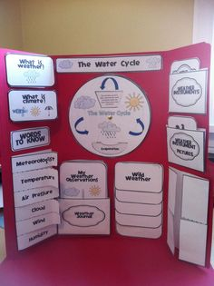 Weather Lapbook and Foldable Fun Weather Activities, Science Activities, Science Experiments, Science Fair Projects, School Projects, Weather Unit, Human Body Systems, Water Cycle, Middle School Science