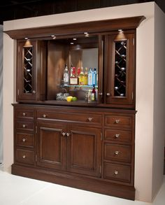 GreenfieldCabinetry.com - Built In Bar - Closed