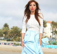 cinderella skirt asos outfit mango lace top theladycracy.it elisa bellino fashion editorial 20