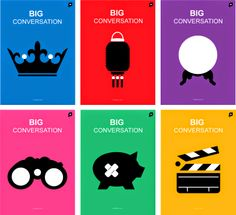Poster design #icons #colourful  Anna_Knight: Big Conversation Posters