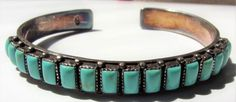 Vintage Navajo Sterling Silver Inlaid Polished Turquoise Stone Cuff Bracelet   Jewelry & Watches, Vintage & Antique Jewelry, Fine   eBay!