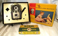 Vintage Brownie Starflash Outfit Camera W/Box & Bulbs-Made In USA #Kodak #Vintage #Brownie #Starflash #Camera