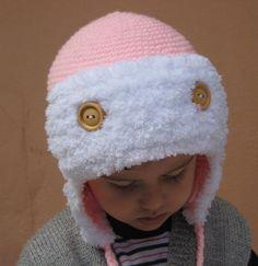 crocheted aviator hat baby winter hathandmade by selmahandcraft