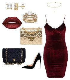 """""""Be my Valentine?"""" by laimageclothing ❤ liked on Polyvore featuring Glamorous, Chanel, Allurez and Lime Crime"""