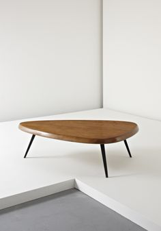 CHARLOTTE PERRIAND AND JEAN PROUVÉ Free-form coffee table, c. 1956