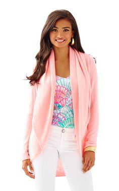 Hayden Open Cashmere Cardigan - Lilly Pulitzer Cheeky Melon
