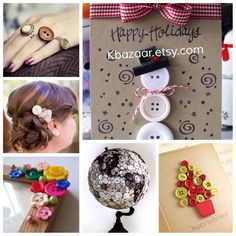 Not the craft itself, but the inspiration. Craft with our #buttons and make special gifts for #christmas  kbazaar.etsy.com