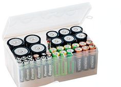 "Battery Organizer (Clear) (2.75""H x 6.5""W x 3.75""D) (1)"