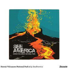 Hawaii Volcanoes National Park 2 Wooden Coaster