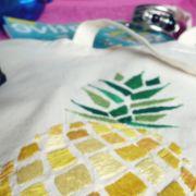 tote bag ananas brodé DIY jour de pluie shop it yourself