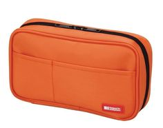 New Lihit Lab Teffa Pen Case Book Style Orange Free shipping from Japan