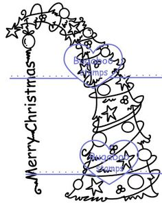 Christmas & Winter - Bugaboo has a large variety of images for all of your digi stamping, digitizing, card making and scrapbooking needs. Cute and whimsical to Sassy and Sn. Christmas Tree Images, Christmas Cards, Merry Christmas, Tree Patterns, Christmas Embroidery, Bugaboo, Digi Stamps, Coloring Pages, Whimsical