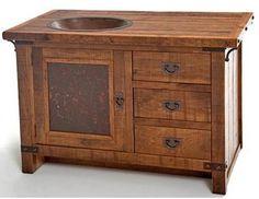 Rustic Bathroom Sink Cabinets log vanity   interierový dezén čiliž bytostní tematika   pinterest