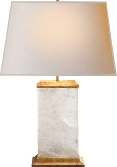 CRESCENT TABLE LAMP| Quartz with Antique Gold Leaf | Circa Lighting | http://www.circalighting.com/details.aspx?pid=1418