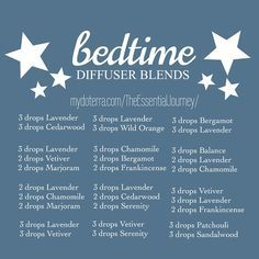 """""""Here are a few diffuser blends to try out for a peaceful night. In the past, each child had his or her own bedtime blend because one blend works for one…"""""""