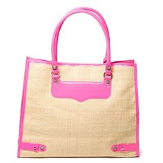 Straw Diamond Tote ($195) ❤ liked on Polyvore