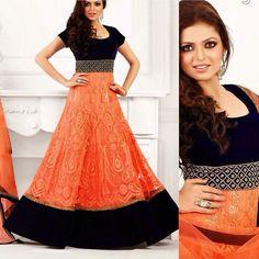 Drashti Dhami Orange dress  Available with us. Contact us at fashioncloset06@gmail.com  for enquiries  Visit us at www.instagram.com/fashioncloset06 and www.facebook.com/fashioncloset6 for more designs