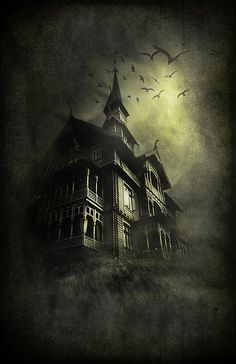 Welcome to the land of all things fall and Halloween! Creepy Houses, Spooky House, Halloween Haunted Houses, Halloween House, Spooky Halloween, Vintage Halloween, Haunted Mansion, Happy Halloween, Gothic