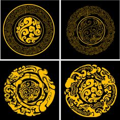 Picture of China Traditional Elements Lucky Cloud Motif Oriental, Chinese Element, Chinese Patterns, Tibetan Art, China Art, China China, Thai Art, Chinese Symbols, Faux Painting