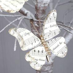 Christmas Carol Butterfly Clip