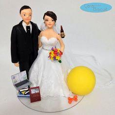 #noivinhospersonalizados 😍💖❤️#pilates #contador #weddingcaketopper #weddingdress #weddingdream #weddingcake #noiva #noivas #noivos #casamento #noivinhosdiferente #topodebolo 🏋🏻📚🗃🗞